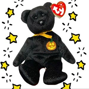 🎃🧸  Ty Beanie Baby - Haunt the Halloween Bear   Made in 2001
